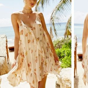 FREE PEOPLE SUNLIT MINI DRESS XS